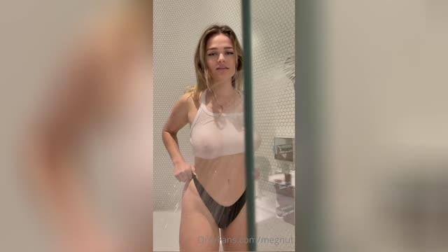 megnutt02 naked her boobs while showering